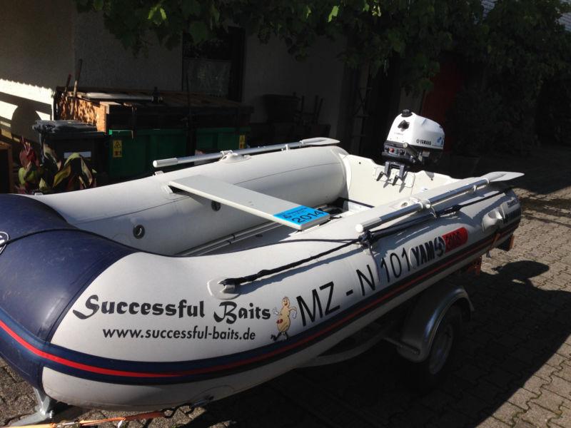 Yamaha 310S Schlauchboot & Yamaha Außenboarder F5AMHS (5PS) & Harbeck Trailer