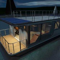Hausboot 12x4.3m mit Suzuki 15PS, 79.000€ ex-works Litauen