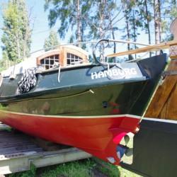 Segelyacht, Plattbodenschiff, Plattbodenboot, Schokker Gipon