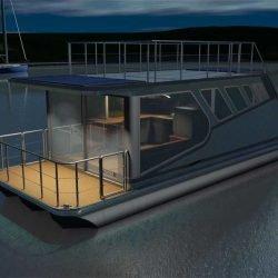 Hausboot 10x3.5m mit Suzuki 15PS, 69.000€ ex-works Litauen