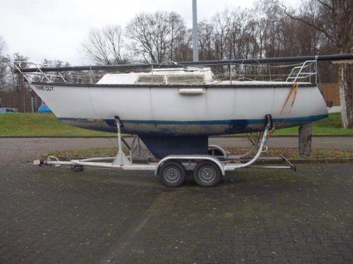 Segelyacht 7,45m x 2,50m, GfK, Segelfertig!