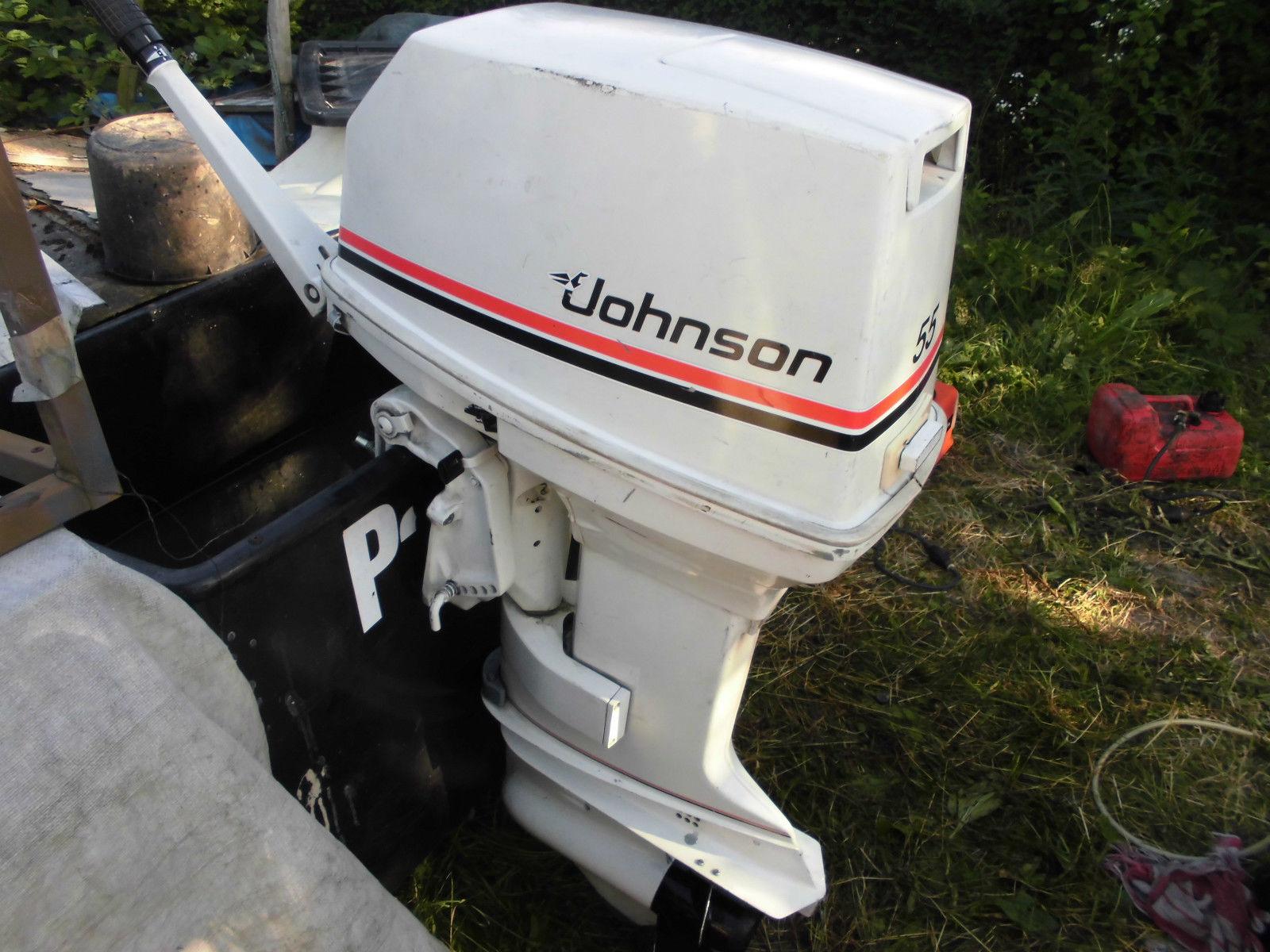 Aussenbordmotor Johnson 55 ps kurzschaft Top Geflegt
