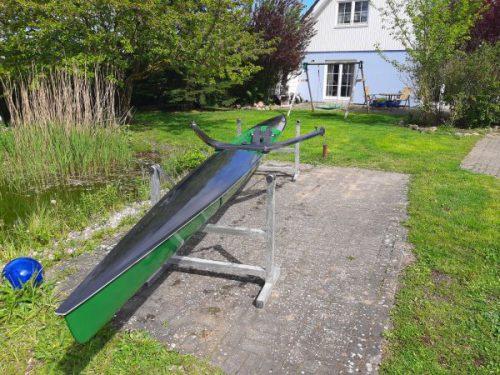 Gig Racer Einer Ruderboot Bugansicht