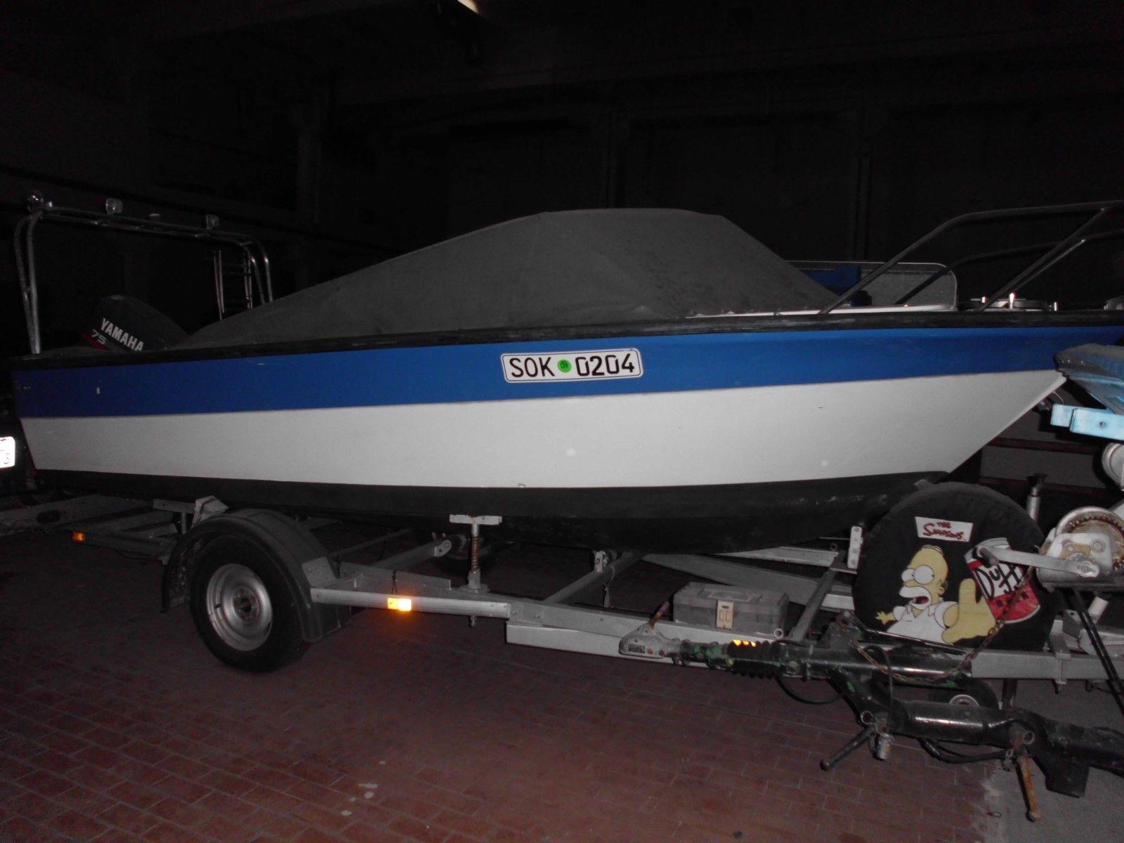 Sportmotorboot + Trailer + Außenborder (75ps)