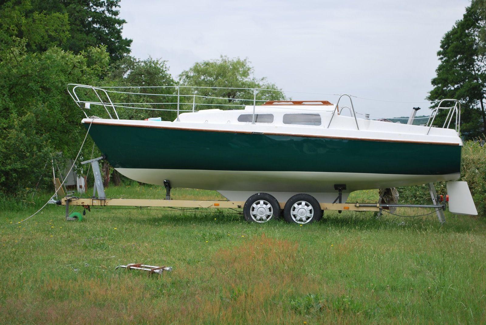 Neptun 22 Kielboot inkl Elektro und 4 Taktmotor, Trailer