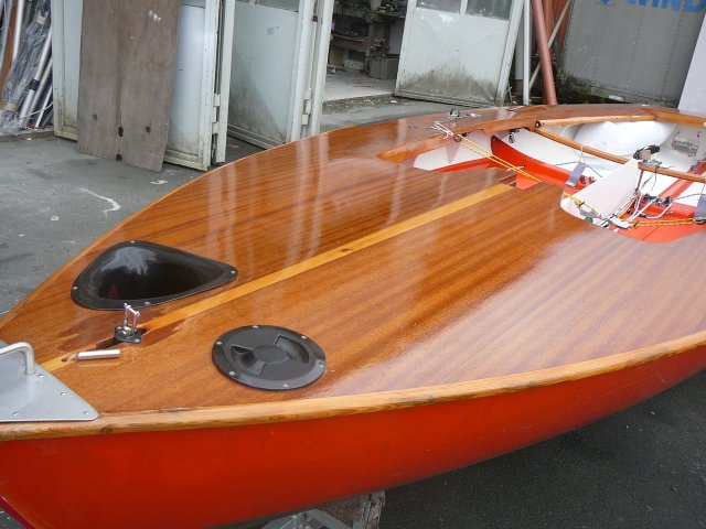 Segeljolle KORSAR MADER gebr. komplett überholt Deck neu lackiert