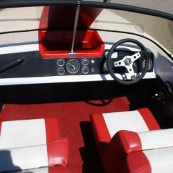 Motorboot mit Bodenseezulassung Fiberline G 17 – Wasserskifahren klappt super