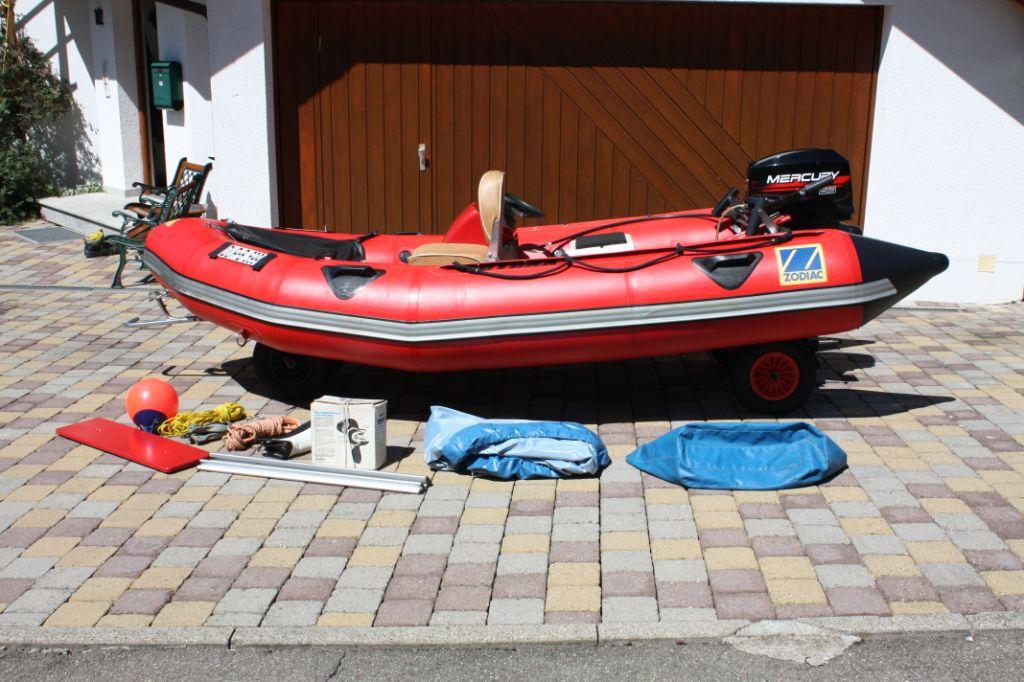 Motorboot Schlauchboot Zodiac Mark 2  II mit Motor Mercury 25 PS