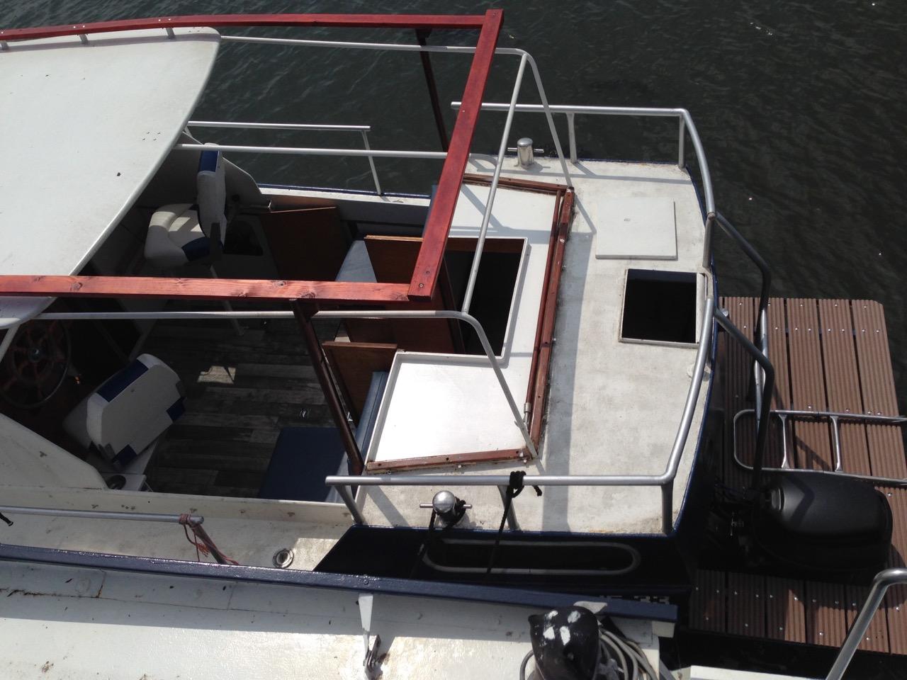 Kajütboot Stahlboot Motorboot Yacht Boot Diesel Motoryacht Schiff Kajüte