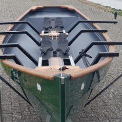 Traditional Trainer Zweier Ruderboot mit Rollsitzen