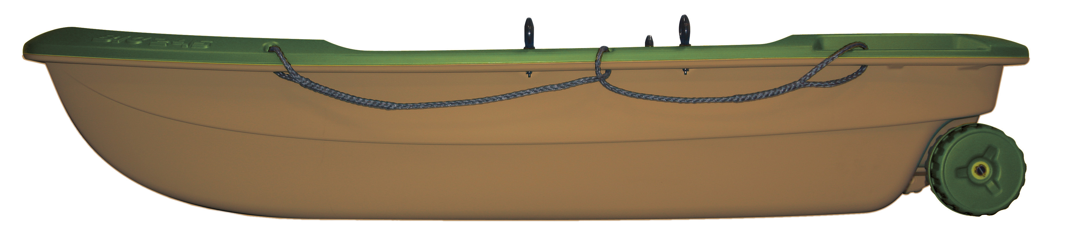 BIC Sportyak 245 Angelboot Ruderboot Spiegelheck Außenborder Transportrollen