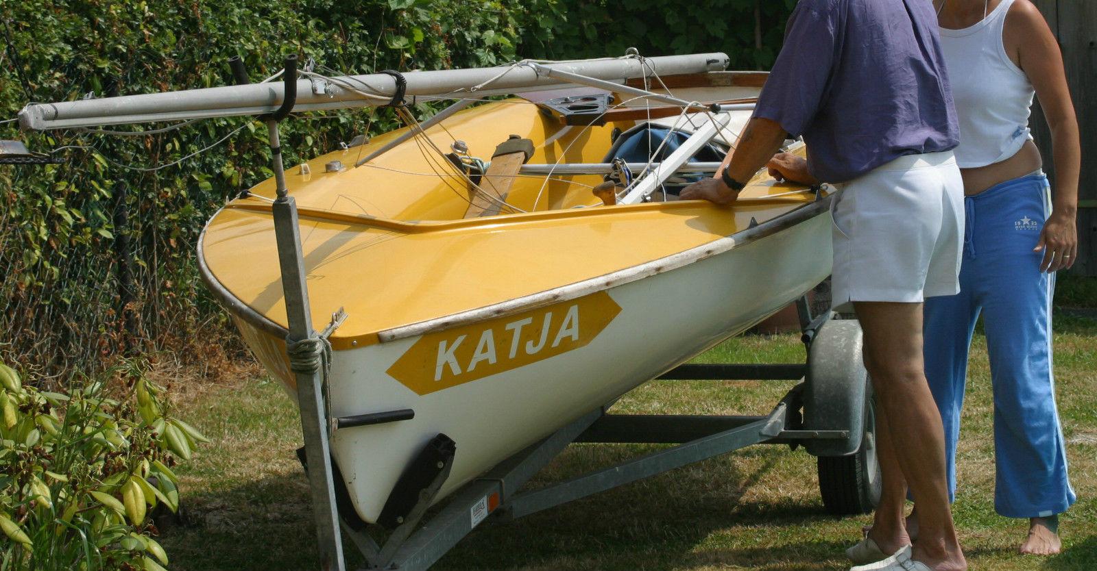 Segeljolle 420 er Segelboot,guter Zustand,komplett mit Trailer